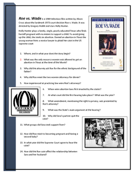 Roe v. Wade Movie questions