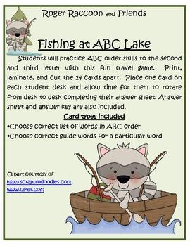 Roger Raccoon Fishing at ABC Lake