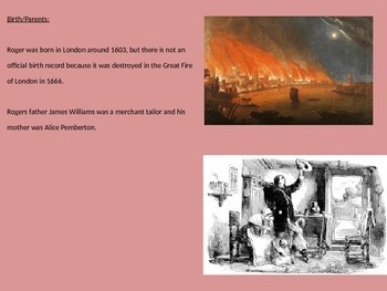 Roger Williams - Founder Rhode Island Power point life history facts