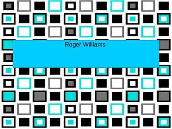 Roger Williams PowerPoint