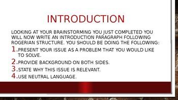 Rogerian Writing Practice Intro Lesson