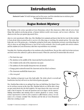 Rogue Rodent Mystery L1 -  Observing the Clues:  Investigating With Your Senses