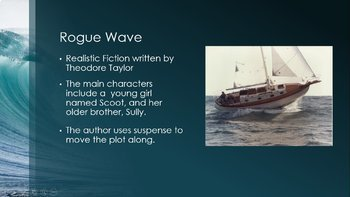 Rogue Wave Introduction to the Story from the 7th Grade HMH Collections Textbook