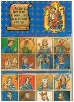 Rois de France postcard