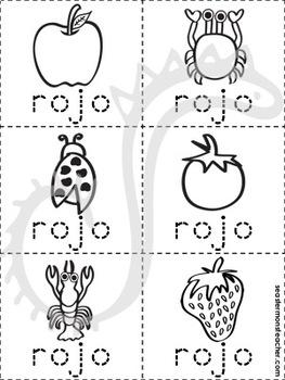 rojo color book (Spanish)