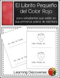 Rojo, Librito de Escritura en Español - Little Book to Wri