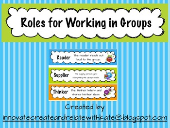 Role Cards for Cooperative Group Work