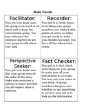Role Cards for Effective Grouping