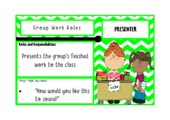 Role Cards for Group Work