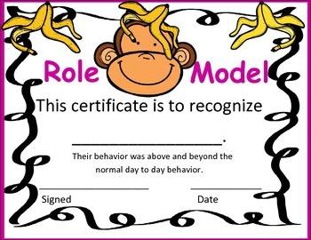 Role Model Certificate- Color