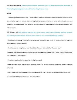 Role Model Essay Rubric