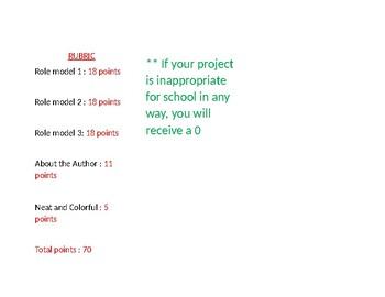 Role Models Pamphlet Project