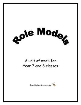 Role Models Unit - Quotes and Activities for use with Famous Figures