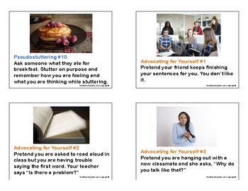 Role Play Cards for Stuttering Therapy