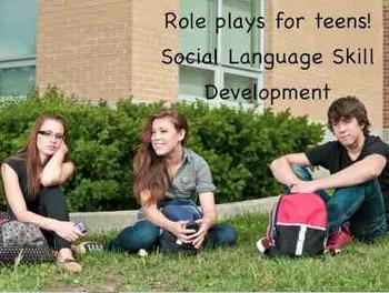 Role Play Scenarios Across Several Settings for Life Skills / Pragmatic Language