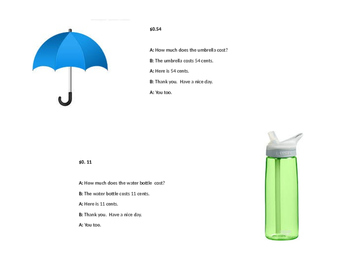 Role Play Script for Purchasing Household Objects (cents)