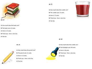 Role Play Script for Purchasing Household Objects