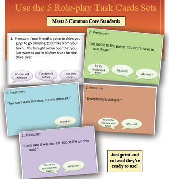 Health Lesson:  Peer Pressure Role-Play Task Cards Activity!