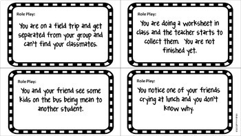 Role Playing Cards!  Back to School Social Skills Activity Pack