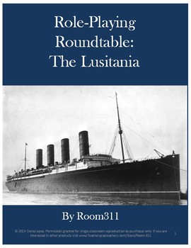 Role-Playing Roundtable: The Sinking of the Lusitania