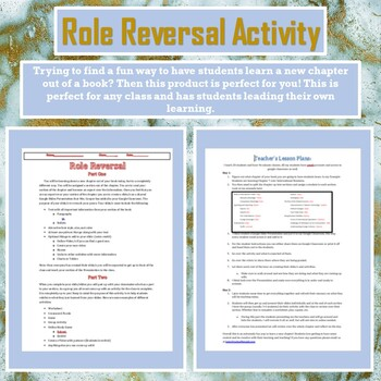Role Reversal Assignment-Students take control on their learning!