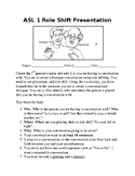 Role Shifting Conversation Presentation and Rubric
