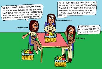 Role of Women in Mi'kmaaq, Haudensaunee, Anishinabe Culture