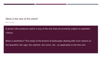 Role of the Artist in Society Community