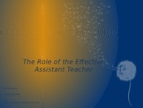 Role of the Assistant Teacher in a Montessori Classroom