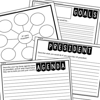 The Role of the President: A mini-unit {Anchor Charts & Writing Activities}