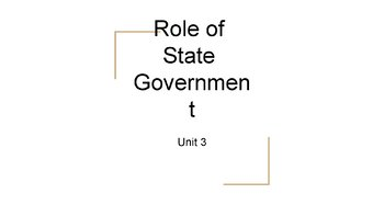 Role of the State Government PowerPoint, Guided Notes, and Completed Notes