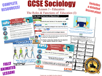 Roles & Functions of Education - Sociology of Education (GCSE Sociology - L3/20)