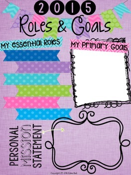 Roles & Goals (2015) - Planning The Life You Want