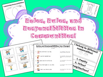 Roles, Rules, and Responsibilities in Communities Pack!