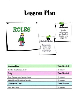 Roles Society Places On People Lesson