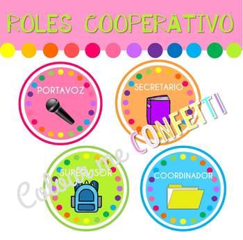 FREEBIE Roles Trabajo Cooperativo - Colour me Confetti