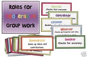 Roles for Cooperative Group Work