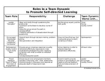 Roles in a Team Dynamic