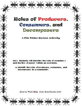 Roles of Producers, Consumers, and Decomposers File Folder