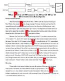 Roles of Women in WW2 - DBQ - Summative - PDF