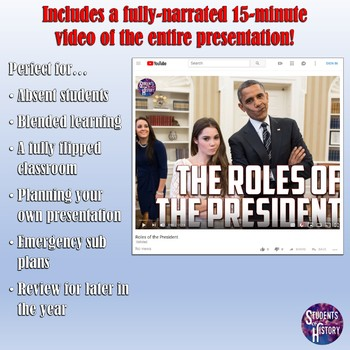 Roles of the President Flipped Classroom PowerPoint