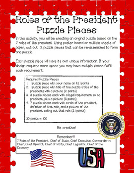 Roles of the President Puzzle