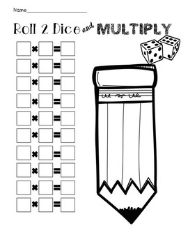 Roll 2 Dice and Multiply