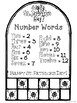 Roll 2 and Cover Ten Frames, Numbers & Words  for March - Black And White Set