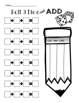Roll 3 Dice and Add