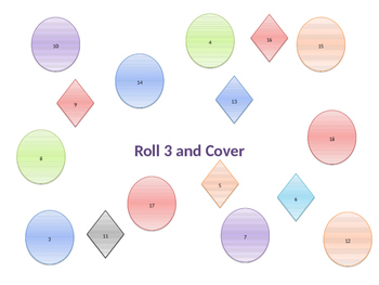 Roll 3 and Cover Addition game