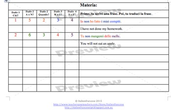 Roll 5 dice writing prompts in Italian with updates for life Wishlist price