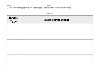 Roll A Bridge Math - Science Graphing Lesson