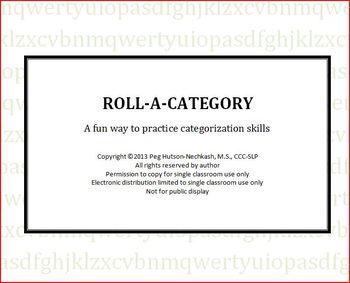 Roll-A-Category Freebie