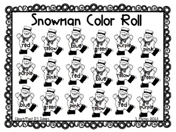 Roll A Color Through the Year